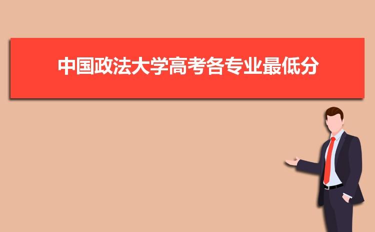 2021年中国政法大学高考各专业最低分和录取位次排名