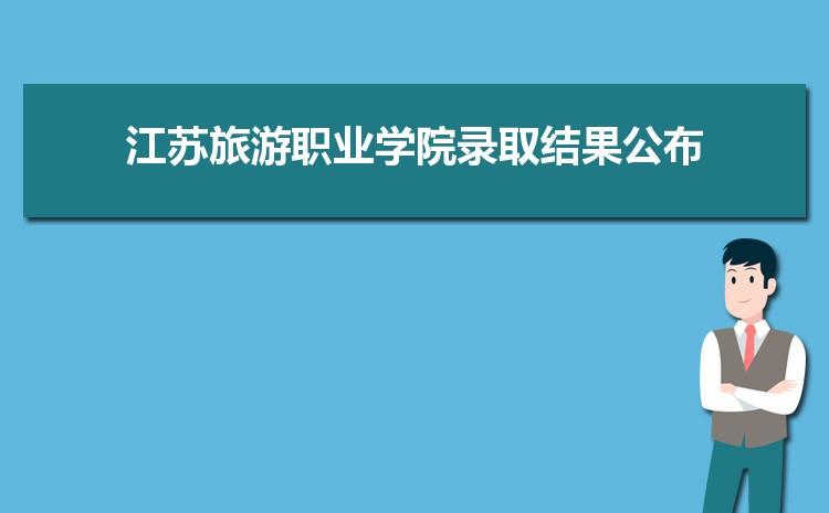 2021年江苏旅游职业学院录取结果公布查询时间什么时候出来