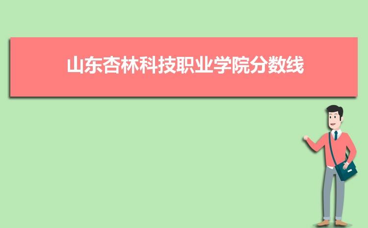 山东杏林科技职业学院历年高考录取分数线一览表 附文理科投档线