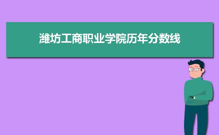 潍坊工商职业学院历年高考录取分数线一览表 附文理科投档线