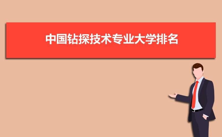 2021年中国钻探技术专业全国大学排名完整最新排名