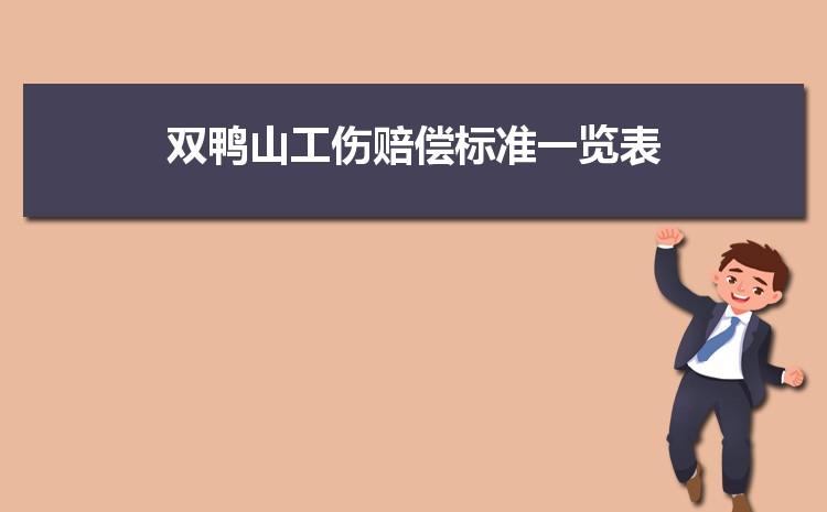 双鸭山工伤赔偿标准一览表2021,双鸭山最新工伤赔偿项目表