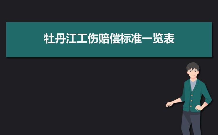 牡丹江工伤赔偿标准一览表2021,牡丹江最新工伤赔偿项目表