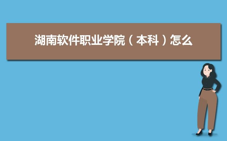 2021年湖南软件职业学院(本科)招生专业有哪些及招生专业目录人数