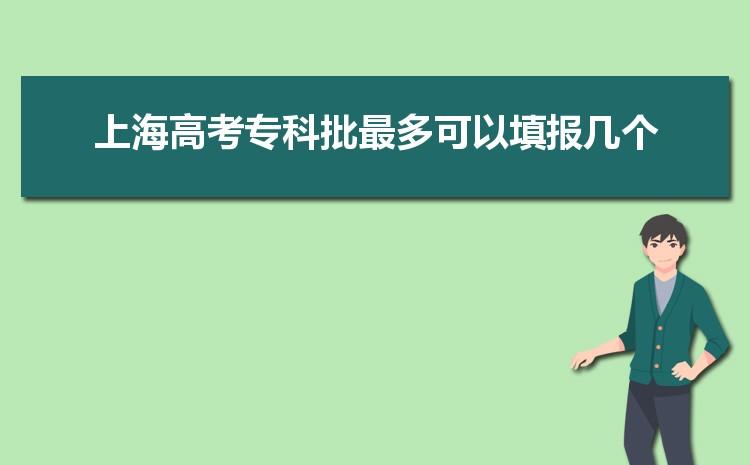 2021年上海高考专科批最多可以填报几个,什么时候开始填报