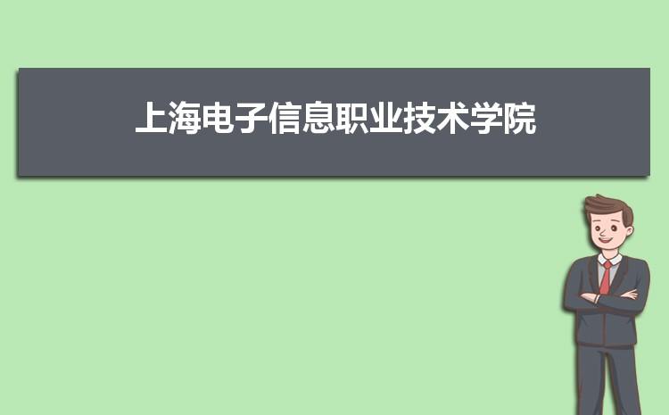 上海电子信息职业技术学院什么专业最好 附王牌特色重点专业名单
