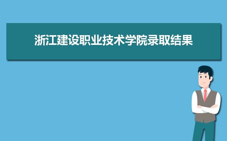 2021年浙江建设职业技术学院录取结果公布查询时间什么时候出来