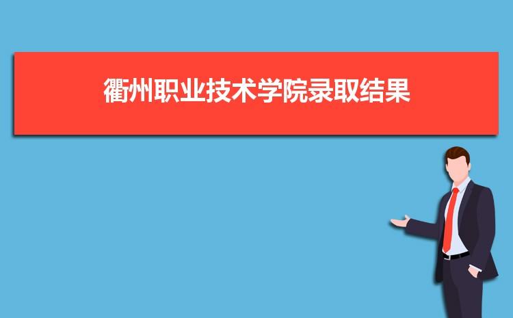 2021年衢州职业技术学院录取结果公布查询时间什么时候出来