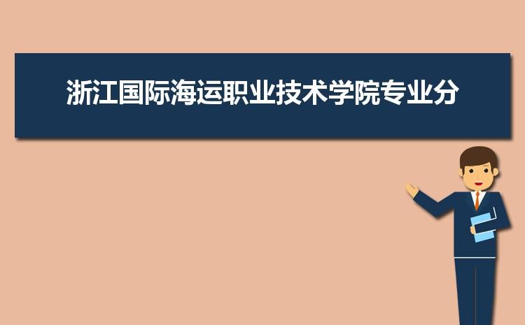 2021年浙江国际海运职业技术学院高考各专业最低分和录取位次排名